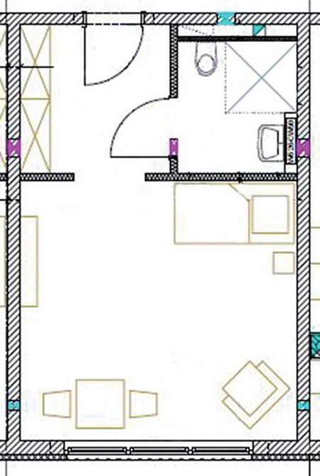 Grundriss eines WG-Zimmers