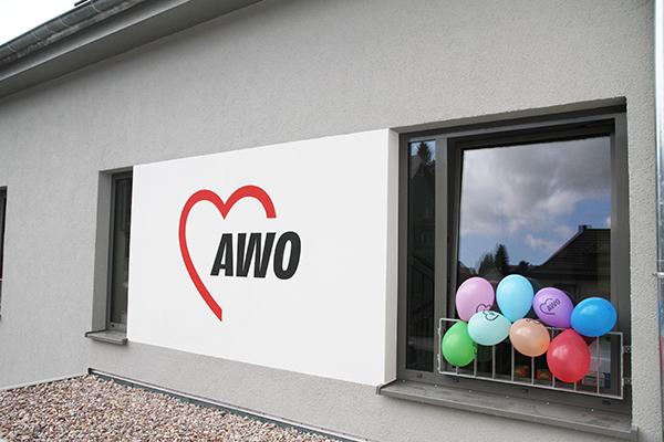 AWO-Logo an der Fassade